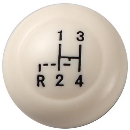 Pommeau de levier de vitesse 12mm - ivoire - avec grille  08/67-