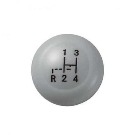 Pommeau de levier de vitesse 12mm - gris - avec grille  08/67-
