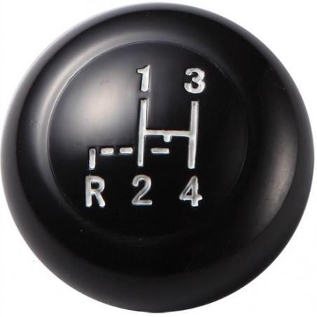 Pommeau de levier de vitesse 12mm - noir - avec grille  08/67-